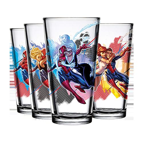 Spider-Man Toon Tumbler Full Set of 4