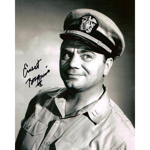 """Ernest Borgnine Autographed 8""""x10"""" (McHale's Navy 2)"""