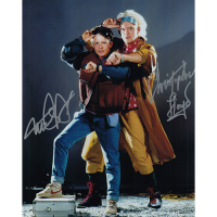 "Michael J. Fox & Christopher Lloyd Autographed 8""x10"" (Back to the Future)"