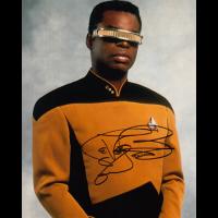"Levar Burton Autographed 8""x10"" (Star Trek: The Next Generation)"