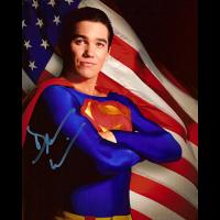 "Dean Cain Autographed 8""x10"" (Lois & Clark: Superman Flag)"