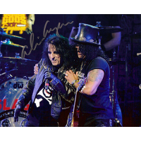 "Alice Cooper Autographed 8""x10"" (With Slash)"
