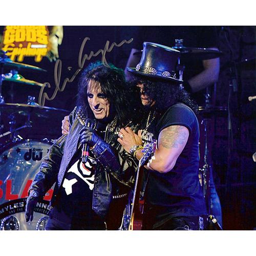 "Alice Cooper Autographed 8""x10"" (With Slash)"