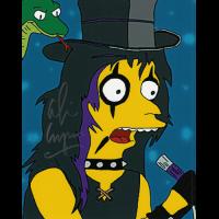 "Alice Cooper Autographed 8""x10"" (Simpsons)"