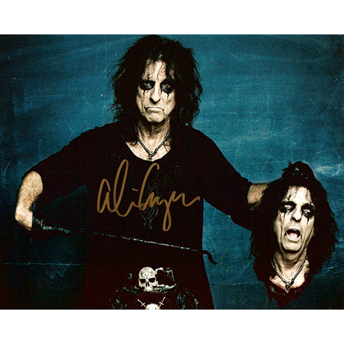 """Alice Cooper Autographed 8""""x10"""" (Severed Head)"""