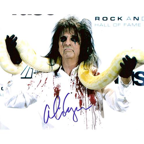 "Alice Cooper Autographed 8""x10"" (HOF with BOA)"