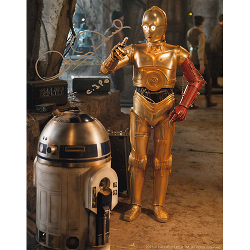 "Anthony Daniels Autographed 8""x10"" (Star Wars)"