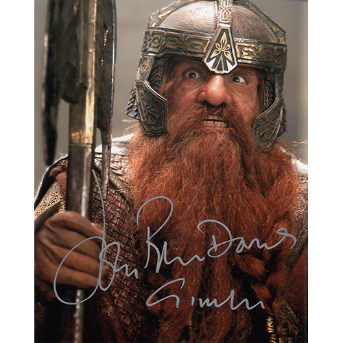 """John Rhys Davies Autographed 8""""x10"""" (Lord of the Rings)"""