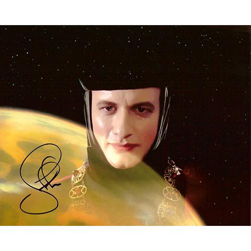 """John De Lancie Autographed 8""""x10"""" (Star Trek: The Next Generation - Landscape)"""