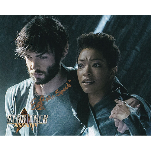 """Ethan Peck Autographed 8""""x10"""" (Star Trek Discovery)"""