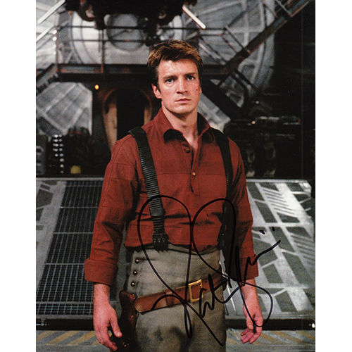 """Nathan Fillion Autographed 8""""x10"""" (Firefly)"""