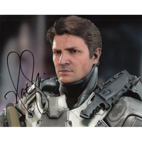 "Nathan Fillion Autographed 8""x10"" (Halo)"