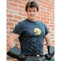 "Nathan Fillion Autographed 8""x10"" (Henchmen)"