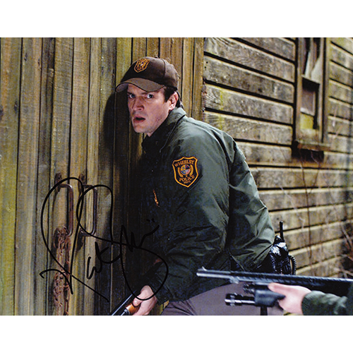 """Nathan Fillion Autographed 8""""x10"""" (Slither)"""
