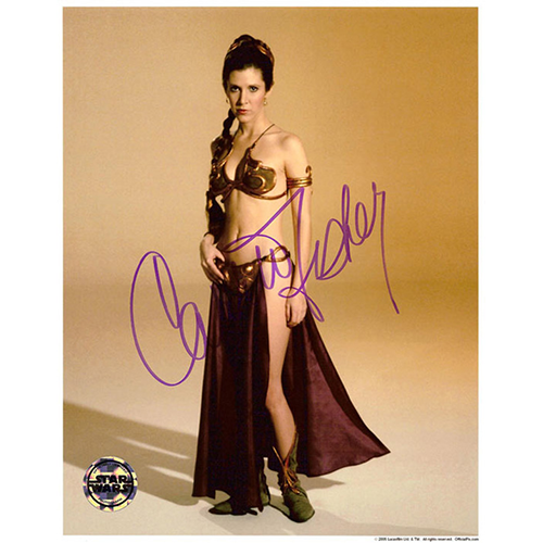 """Carrie Fisher Autographed 8""""x10"""" (Star Wars - Princess Leia 5)"""