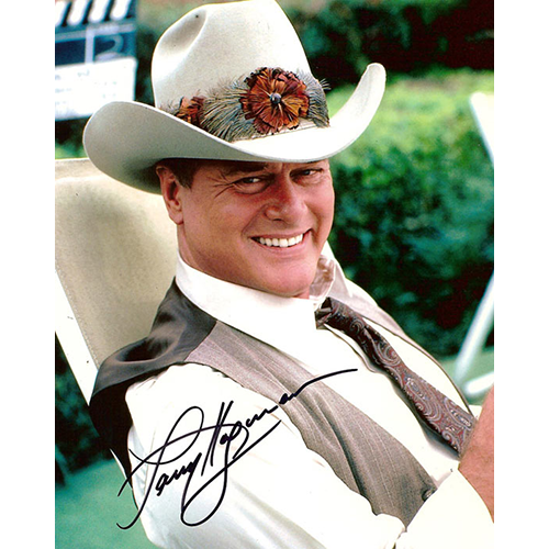 "Larry Hagman Autographed 8""x10"" (Dallas)"