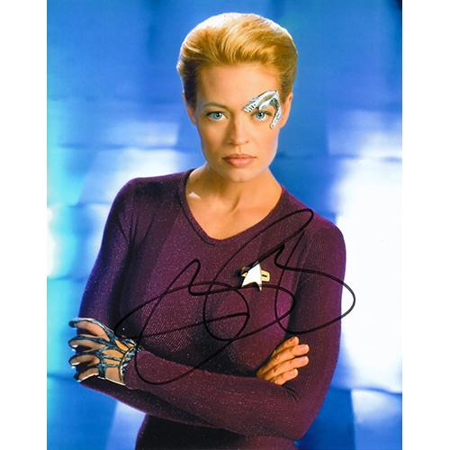 "Jeri Ryan Autographed 8"" x 10"" (Star Trek Voyager 2)"