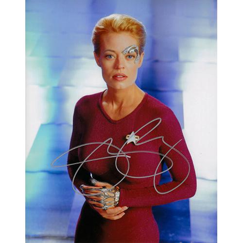"Jeri Ryan Autographed 8"" x 10"" (Star Trek Voyager 4)"