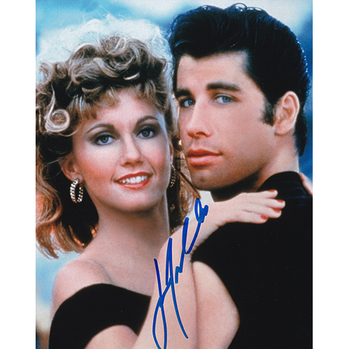 "John Travolta Autographed 8""x10"" (Grease)"