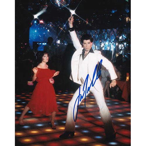 "John Travolta Autographed 8""x10"" (Saturday Night Fever)"