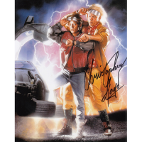 """Christopher Lloyd Autographed 8""""x10"""" (Back to the Future)"""