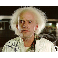 "Christopher Lloyd Autographed 8""x10"" (Back To The Future 1)"