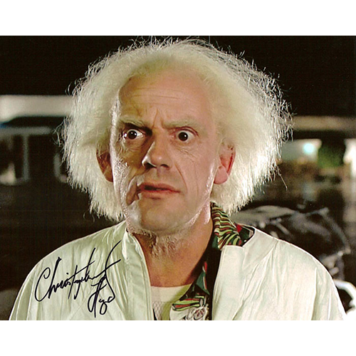 """Christopher Lloyd Autographed 8""""x10"""" (Back To The Future 1)"""