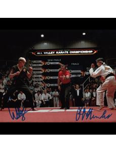 "Ralph Macchio / William Zabka Autographed 8""x10"" (Karate Kid)"