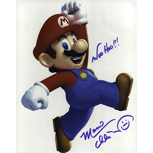 """Charles Martinet Autographed 8""""x10"""" (Mario)"""