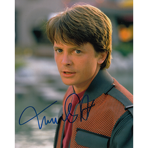 """Michael J. Fox Autographed 8""""x10"""" (Back the the Future)"""