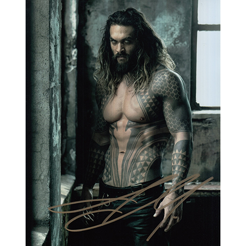 "Jason Momoa Autographed 8""x10"" (Justice League)"