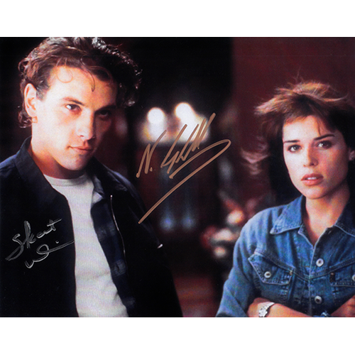 """Neve Campbell and Skeet Ulrich Autographed 8"""" x 10"""" (Scream 2)"""