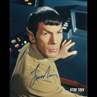 "Leonard Nimoy Autographed 8""x10"" (Spock)"