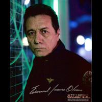 "James Olmos Autographed 8""x10"" (Battlestar Galactica 1)"