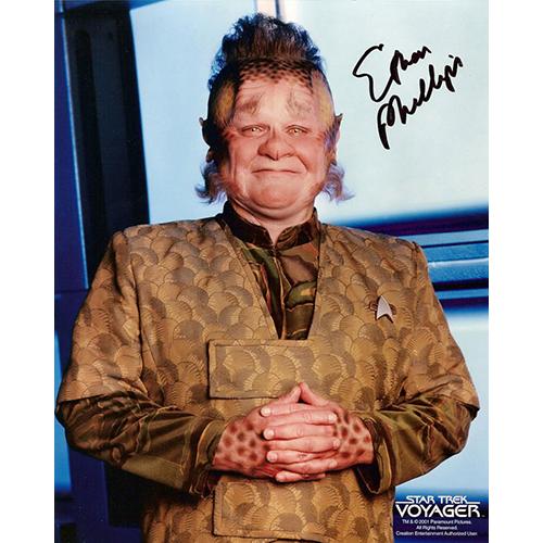 "Ethan Phillips Autographed 8""x10"" (Star Trek: Voyager 2)"