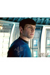 "Zachary Quinto Autographed 8""x10"" (Star Trek - Spock 2)"