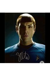 "Zachary Quinto Autographed 8""x10"" (Star Trek - Spock 3)"