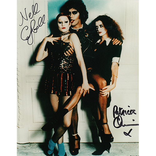 """Patricia Quinn & Nell Campbell Autographed 8""""x10"""" (Rocky Horror Picture Show)"""