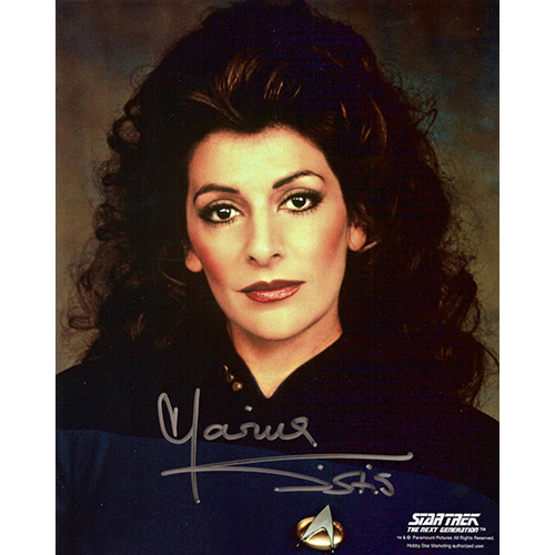"Marina Sirtis Autographed 8""x10"" (Star Trek: The Next Generation 1)"