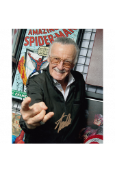 "Stan Lee Autographed 8""x10"" (Marvel Comics)"