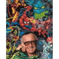 "Stan Lee Autographed 8""x10"" (Marvel Comics)"