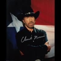 "Chuck Norris Autographed 8""x10"" (Walker Texas Ranger)"