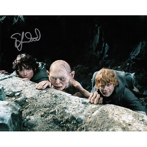 """Elijah Wood Autographed 8""""x10"""" (Lord of the Rings - Trio)"""