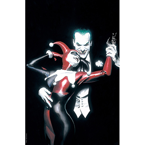 Batman Harley Quinn #1 Limited Foil Cover Edition .  Alex Ross Exclusive