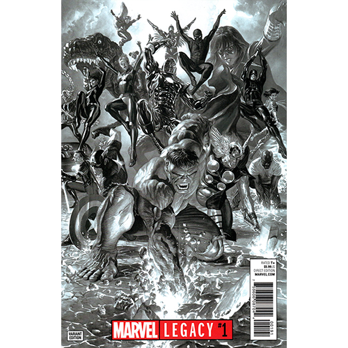 Marvel Legacy #1 1:100 Alex Ross B/W Retailer Incentive
