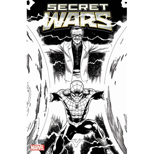 Secret Wars #1 (Limited Edition) Sketch Cover