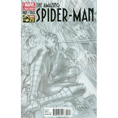 The Amazing Spider-Man #1 Alex Ross 1:300 Retailer Sketch Variant