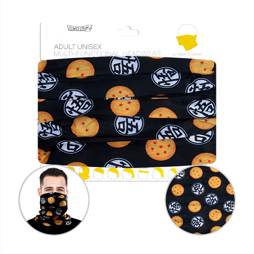 Officially Licenced Dragon Ball Z Neck Gaiter. Sized for adults.