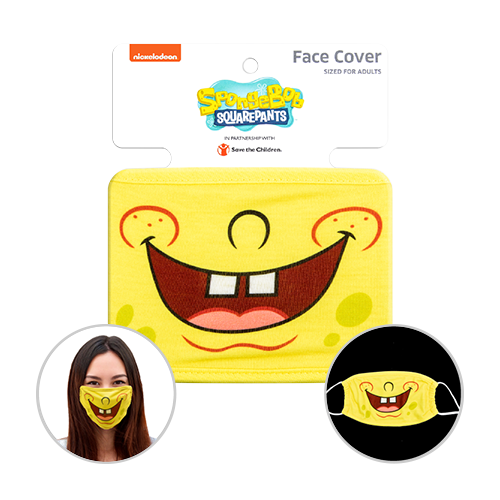 Officially Licenced SpongeBob SquarePants Face Mask. Sized for adults.