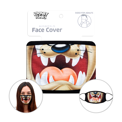 Officially Licenced Taz Face Mask. Sized for adults.
